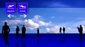 Interi estilizado do escritório do aeroporto Fotografia de Stock