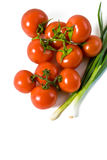 Interi pomodori bagnati Immagini Stock
