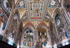 Interial von Siena Cathedral Lizenzfreies Stockbild