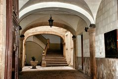 Interier στο αρχαίο φρούριο μια από τις θέες Tarragona Στοκ Φωτογραφίες