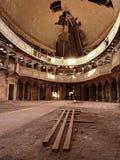 Interier της εγκαταλειμμένης εκκλησίας Υπόγειος θάλαμος apse Στοκ Εικόνα