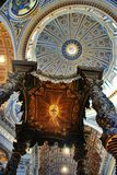Interior of the Saint Peter Cathedral in Vatican Royalty Free Stock Image