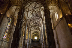 Interier details of the Monastery or Hieronymites Stock Photos