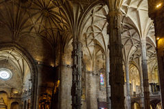 Interier details of the Monastery or Hieronymites Royalty Free Stock Photography