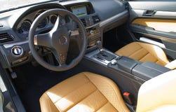 Interieur del cabriolet del benz di Mercedes Immagini Stock