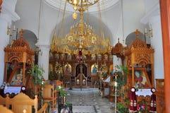 Interieur della chiesa greco ortodossa Fotografie Stock Libere da Diritti