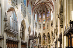 Interieur of the Sint Janskathedraal in Den Bosch Stock Photography