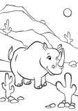 Interim e sorridere di rinoceronte illustrazione vettoriale