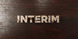 Interim - titolo di legno grungy sull'acero - 3D ha reso l'immagine di riserva libera della sovranità illustrazione vettoriale