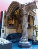 Interiof der Form-Gerichte Victoria und Albert Museum in London, England, Lizenzfreie Stockbilder