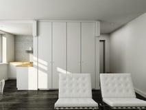 interioir居住的现代空间 库存图片