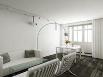 interioir居住的现代空间 免版税库存照片