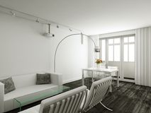 interioir σύγχρονο δωμάτιο διαβί&omeg Στοκ φωτογραφία με δικαίωμα ελεύθερης χρήσης