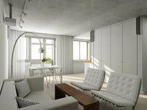 Interioir da sala de visitas moderna Imagem de Stock Royalty Free