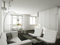 Interioir de salle de séjour moderne Images libres de droits