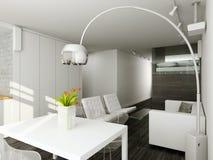 Interioir de salle de séjour moderne Image libre de droits