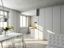 Interioir of modern living-room Royalty Free Stock Image