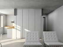 Interioir of modern living-room Royalty Free Stock Photos