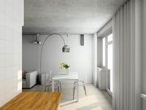 Interioir of modern living-room royalty free illustration