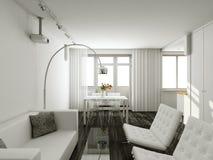 Interioir van moderne woonkamer Stock Foto's
