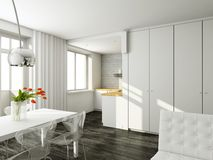 Interioir van moderne woonkamer Stock Fotografie