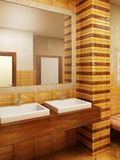 Interioor van de de stijlbadkamers van Marokko Stock Afbeelding
