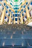 Interior árabe del Al de Dubai Burj Imágenes de archivo libres de regalías