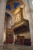 Interior, órgano de la catedral de Lucca Cattedrale di San Martín Toscana Italia Fotos de archivo libres de regalías