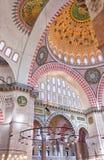 Interior 04 de la mezquita de Suleiman Foto de archivo