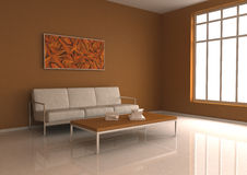 Interior. 3d render home grey Interior Royalty Free Stock Photography