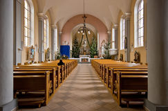 The interior. The interior of one of the tiny, charming Polish churches Stock Image