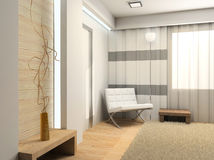 Interior. Modern interior. 3D rednder Royalty Free Stock Photos