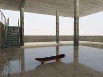 Interior. Skateboard in concrete urban building Stock Image