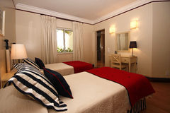 Interior. A luxurious and modern decorated bedroom Royalty Free Stock Image