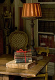 Interior. Ancient books an home interior royalty free stock images