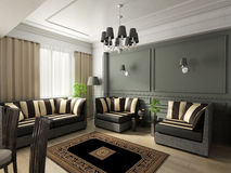 Interior. 3d render. Modern interior. beautifull room royalty free stock images