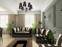 Interior. 3d render. Modern interior. beautifull room stock photography