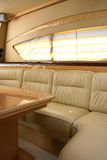 Interior. This is a yacht interior with sofa and table Royalty Free Stock Photo