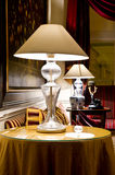 Interior. Lamps in luxury vintage hotel room Royalty Free Stock Photography