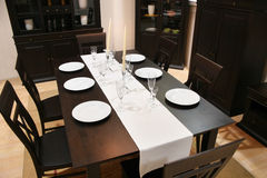 Interior 2 da sala de jantar foto de stock