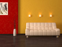 Interior 3d cumputer render Royalty Free Stock Photo