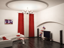 Interior 3d render. Living room interior 3d render Stock Photo