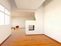 Interior. Of a clear room of a house Stock Photography