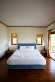 Interior. Bed room interior of a modern house - home interiors royalty free stock photos