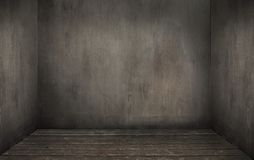 Interior. Old grunge interior, wooden floor royalty free stock photography