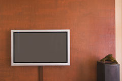 Interior. With plasma TV and acoustic system Royalty Free Stock Images