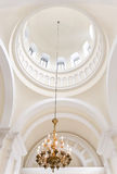 Interior. Detail with golden chandelier. Public space Royalty Free Stock Photo