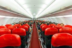 Interior A320-200 Foto de Stock Royalty Free