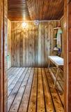 Interior A Rustic Bath Royalty Free Stock Image