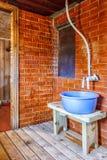 Interior A Rustic Bath Stock Photo